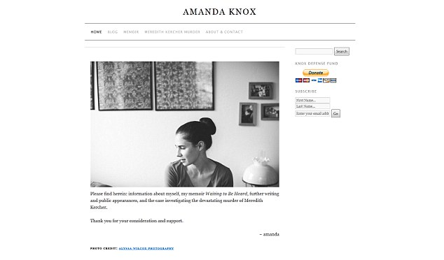 Amandaknox.com raises money for her defense fund as she is tried for a third time in the Italian courts