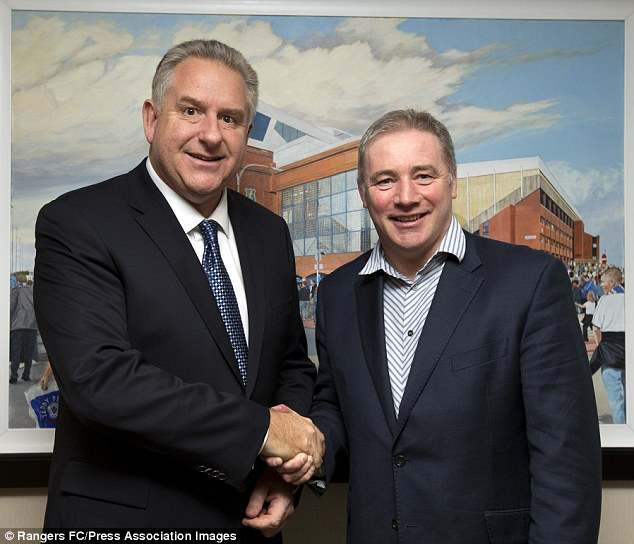 Driving force: Wallace alongside current manager Ally McCoist