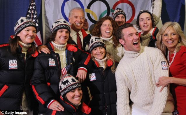 Canada 1, Russia 0: Vice President Joe Biden yukked it up with with members of the US Olympic Snowboarding team during the Vancouver 2010 Winter Olympics, but he's staying home in February 2014
