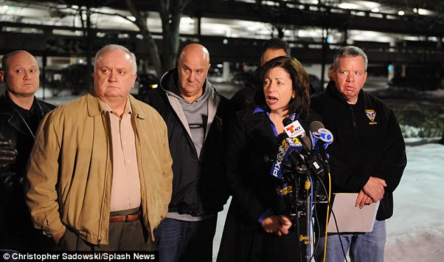 Suspects on the loose: Essex County Prosecutor Carolyn A. Murray speaks at the scene where Dustin Friedland was killed by carjackers Sunday