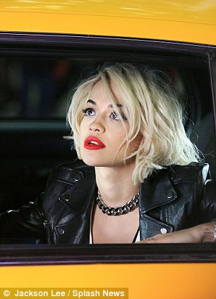 Cabbin it: In November, Rita collapsed on set while working for the Material Girl and was promptly rushed to hospital and treated for heat exhaustion and dehydration