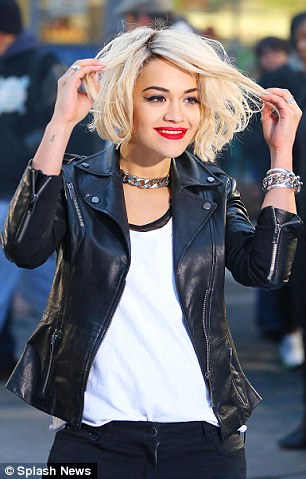 Fearless fashionista: In addition to being the face of DKNY, Rita has also fronted the most recent Material Girl campaign