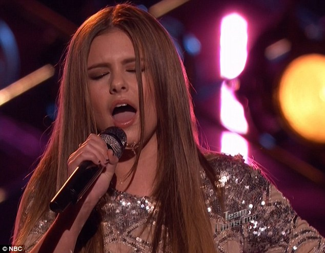 Teen star: Jacquie Lee belted out a Jennifer Hudson song