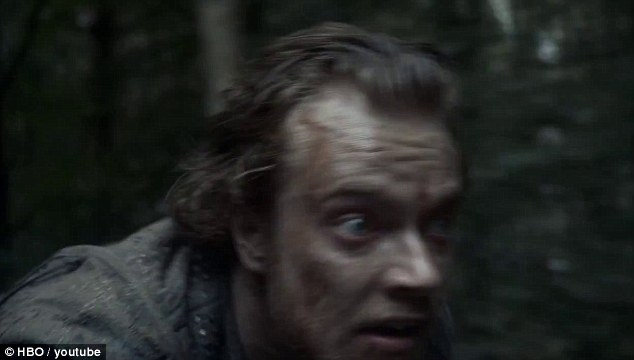 The great escape: New footage from season four of Game Of Thrones show Theon Greyjoy fleeing on horseback