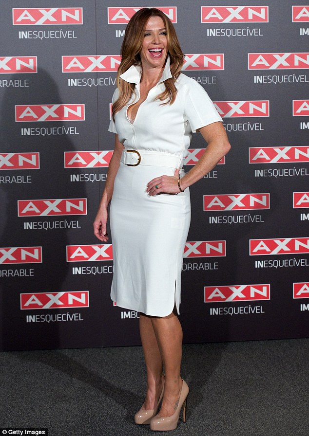 Chirpy! The 38-year-old opted for a knee-length white dress for the event