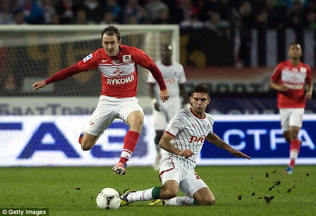 Hopeful: Norwich are looking for a winger and Spartak Moscow's Aiden McGeady could be the man