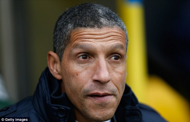 Eyes on the prize: Chris Hughton will be looking for a winger in January to boost his ailing squad