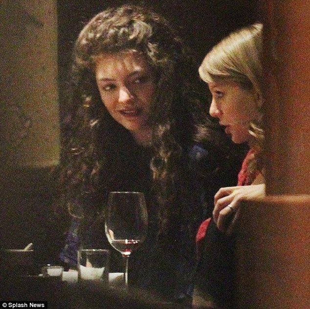 Kiwi meets country: Lorde shared a sushi meal with Taylor Swift in Melbourne on December 12