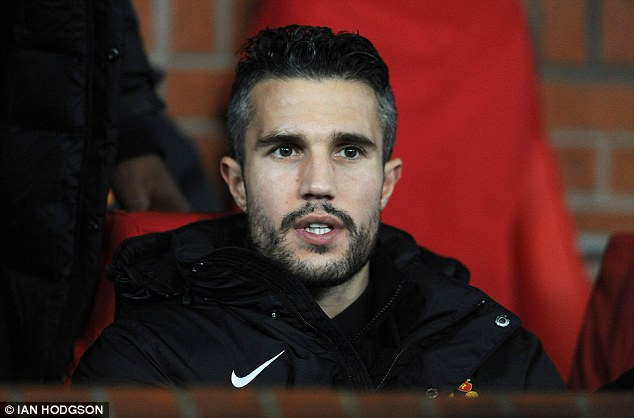 Absent: Van Persie will miss another month with an ongoing thigh problem