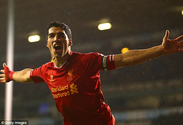 Money talks: Liverpool will tempt Luis Suarez to say by offering to make him the highest paid player in their history