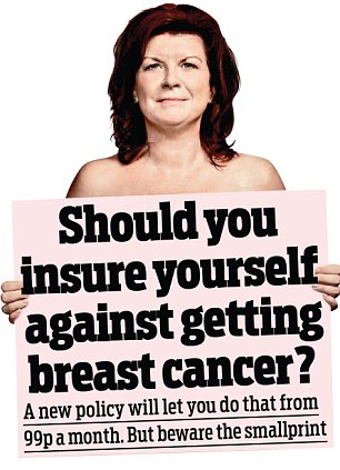 Cover: Those most at risk - women in their 50s - will actually have to fork out from £6.99 to £16.99