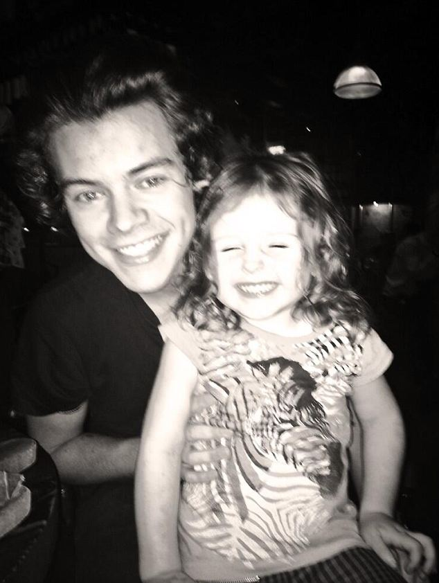 Time out: Abbey Clancy arranged for her two-year-old daughter Sophia to meet Harry Styles