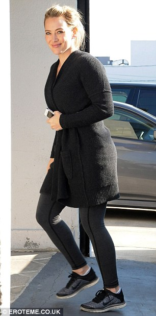 Workout fix: The mother to 20-month-old Luca got back into shape after giving birth and was seen going to the gym on December 10 and 13