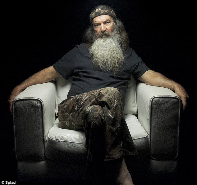 Shelved: Phil Robertson has been suspended from Duck Dynasty 'indefinitely' after making homophobic comments, the show's network A&E said