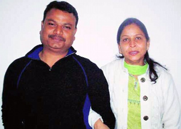 'Slave': Sangeeta Richard, with her husband Philip, who worked as a driver at the Embassy of Mozambique in Delhi, pictured in January 2010 - according to her mother in law she had always wanted to work abroad