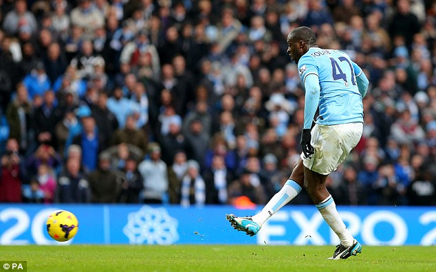 Easy! Yaya Toure has been in the goals for Manchester City, who are Europe's top scorers this season