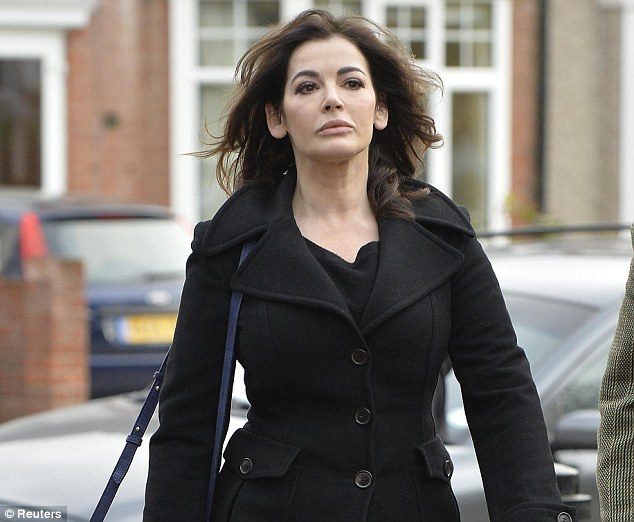 'Unfortunate divorce': Nigella Lawson reacted angrily when Anthony Metzer QC described her split from Charles Saatchi as 'unfortunate'. She quickly interjected 'I wouldn't say unfortunate'