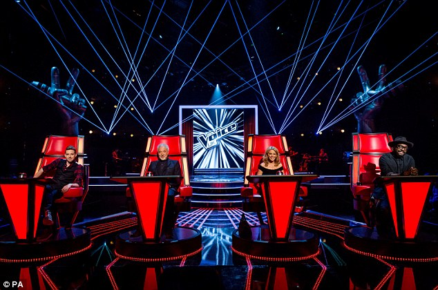They're in the chairs: The four judges have begun the blind auditions, ready to be aired in the new year