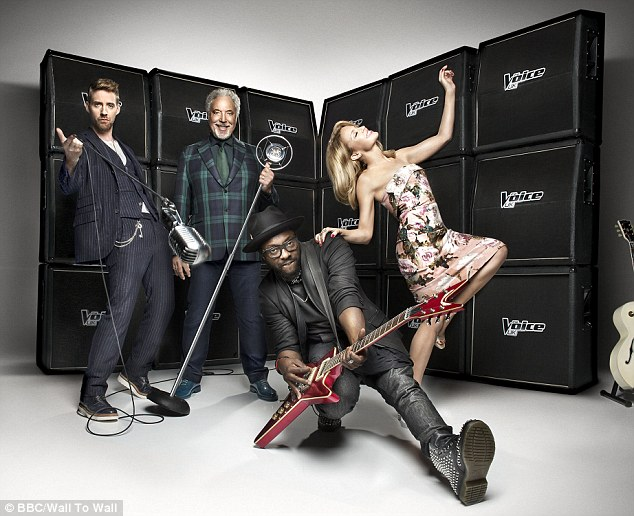 Born to rock: Kylie Minogue and Ricky Wilson have appeared in their first promotional picture for next year's The Voice