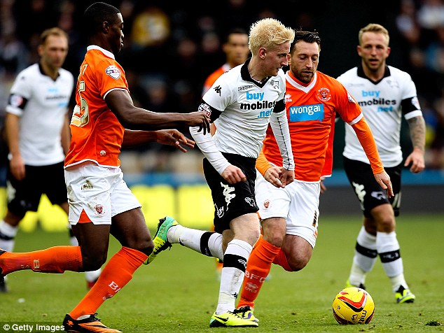 Catch me while you can: Will Hughes (centre) has shown remarkable ability for his young age