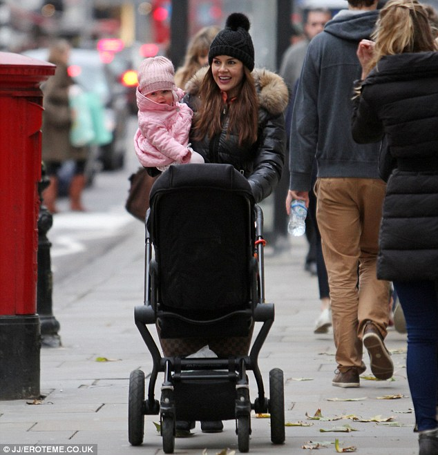 Mini-me: Imogen is no doubt very excited to spend her first Christmas with her little girl