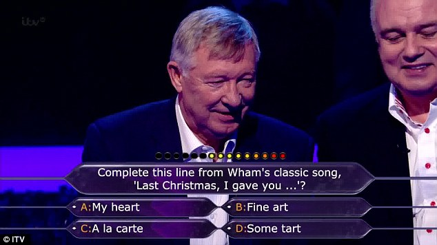 Easy: The first question raised a smile from Fergie, and both answered it quickly