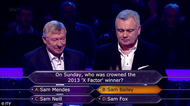 Secret fan? Ferguson also knew the answer to question two, about the recent X-Factor show