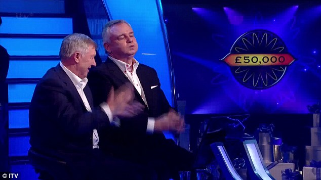 Winners: Sir Alex Ferguson and Eamonn Holmes won £50,000 for the Manchester United Foundation