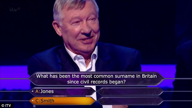 50/50: Answering this question correctly meant they were guaranteed to win at least £50,000