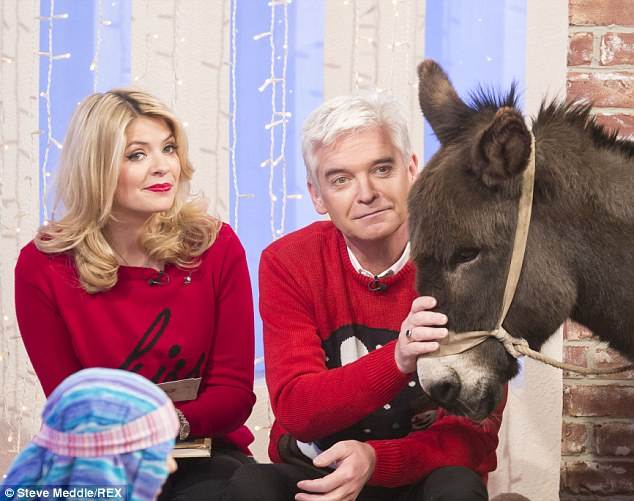 Never work with children and animals! Looks like Holly and Phillip never heard that old bit of acting advice