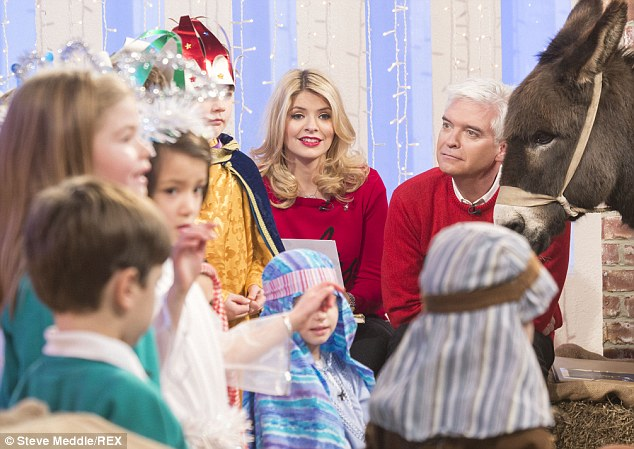 A Merry little Christmas! The cast were also joined by a number of small stars re-enacting the nativity scene