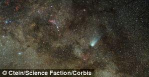 Comet Halley Against Milky Way Galaxy --- Image by © Ctein/Science Faction/Corbis
