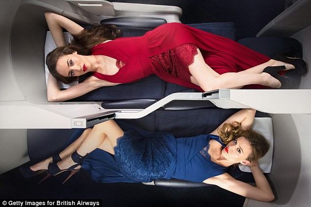 Saucy sisters: Georgia was joined by Lizzie earlier this month for a British Airways shoot