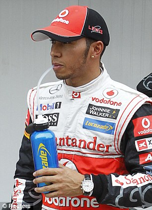 Fan: Di Montezemolo describes British driver Lewis Hamilton as a 'fighter'
