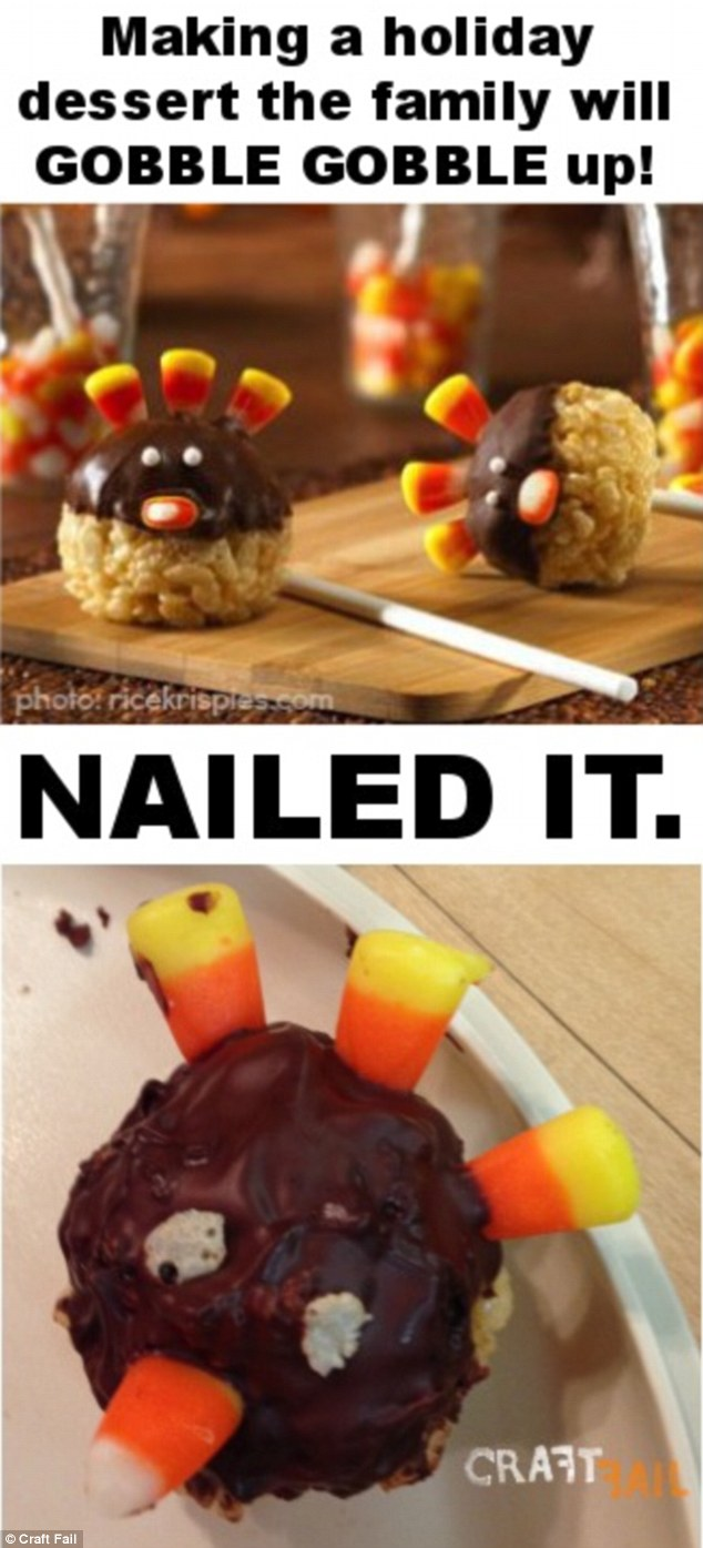Bird brain: These turkey cake pops look like the bird has been run over - but at least its beak is in tact