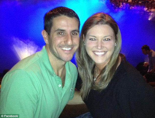 Gunned down: Dustin Friedland, pictured with wife Jamie, was shot dead while protecting her from carjackers at a New Jersey mall. Four suspects will now be trialled for his murder