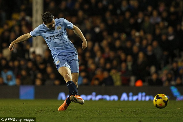 Complete: James Milner scores Manchester City's fourth goal in the 83rd minute