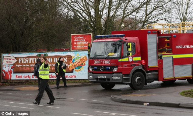 Alert: The emergency services were alerted to the fire at 8.40am - just an hour and 20 minutes before thousands of families would have descended on the popular resort