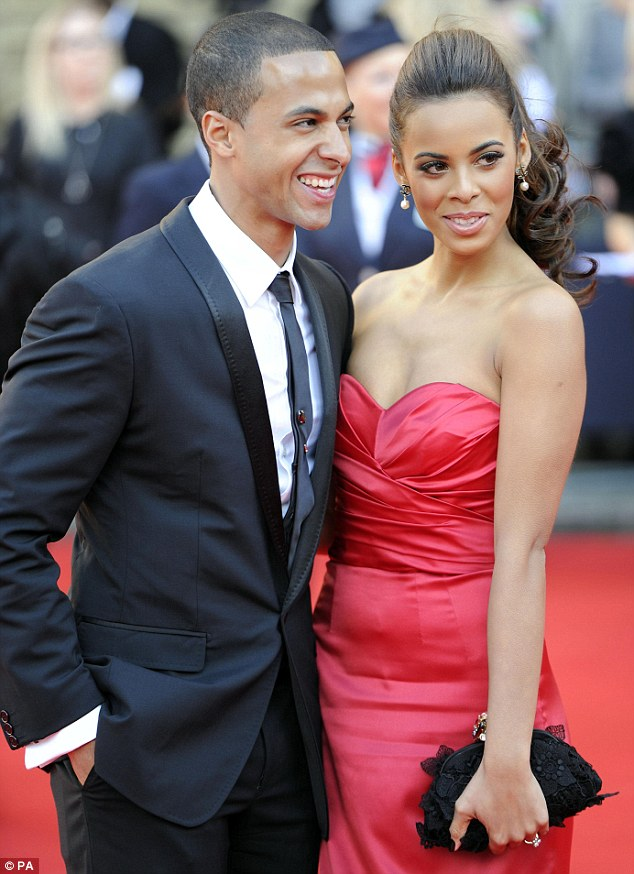 Happy couple: Marvin with wife Rochelle Humes of The Saturdays, who he married in 2012