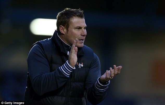Looking forward: Recently appointed Bury boss David Flitcroft is hoping to guide his new team out of the relegation zone
