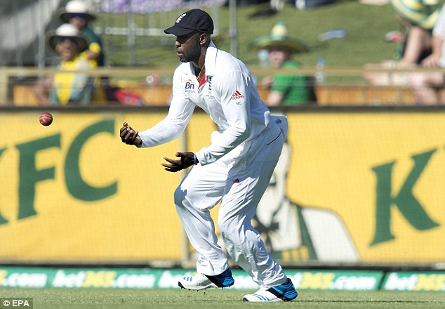 Dropping the Ashes? Michael Carberry shelled an important catch to get rid of Brad Haddin