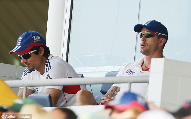 Defeated: England's balcony was in a state of shock at the WACA