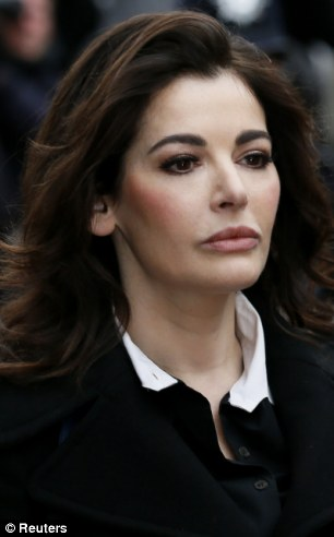 Great influence: TV chef Nigella Lawson arrives at court earlier this month
