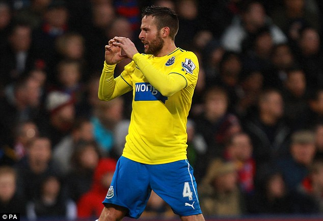 Great form: Newcastle were determined to keep hold of midfielder Yohan Cabaye during the summer