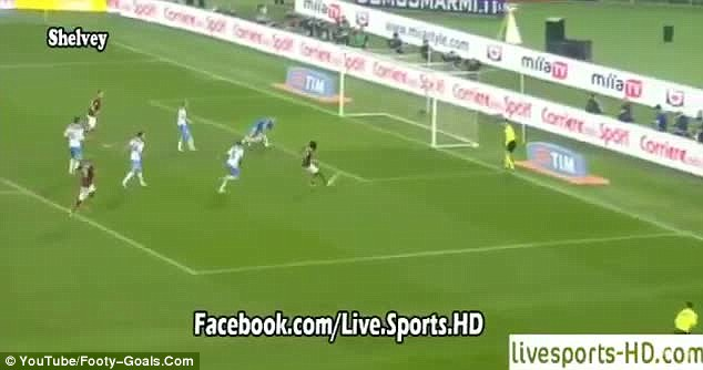 Surely he'll score? Gervinho shoots with goal gaping open as Frison scrambles to get back to his feet