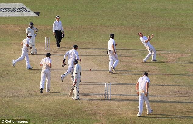 Pumped up: Swann celebrates taking the wicket of Sri Lanka's Thilan Samaraweera in Colombo in 2012
