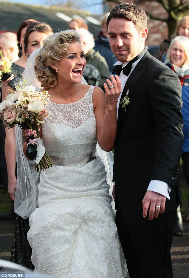 Here's one I brought new! Former Blue Peter presenter Helen Skelton married rugby player boyfriend Ritchie Myler in Kirkby Thore in Cumbria on Sunday