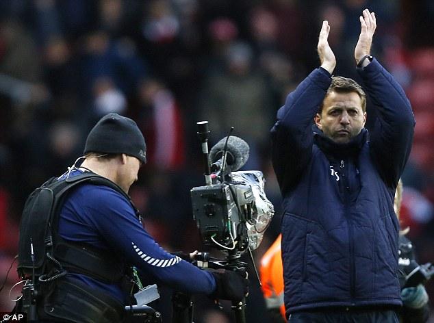 Opportunity: Caretaker boss Tim Sherwood gave Lamela only his third start in the Premier League