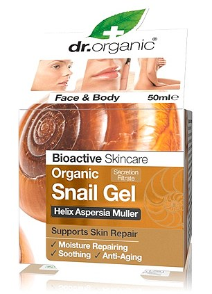 Complexion corrector: Dr Organic Snail Gel, £19.99, is proving popular with celebrities