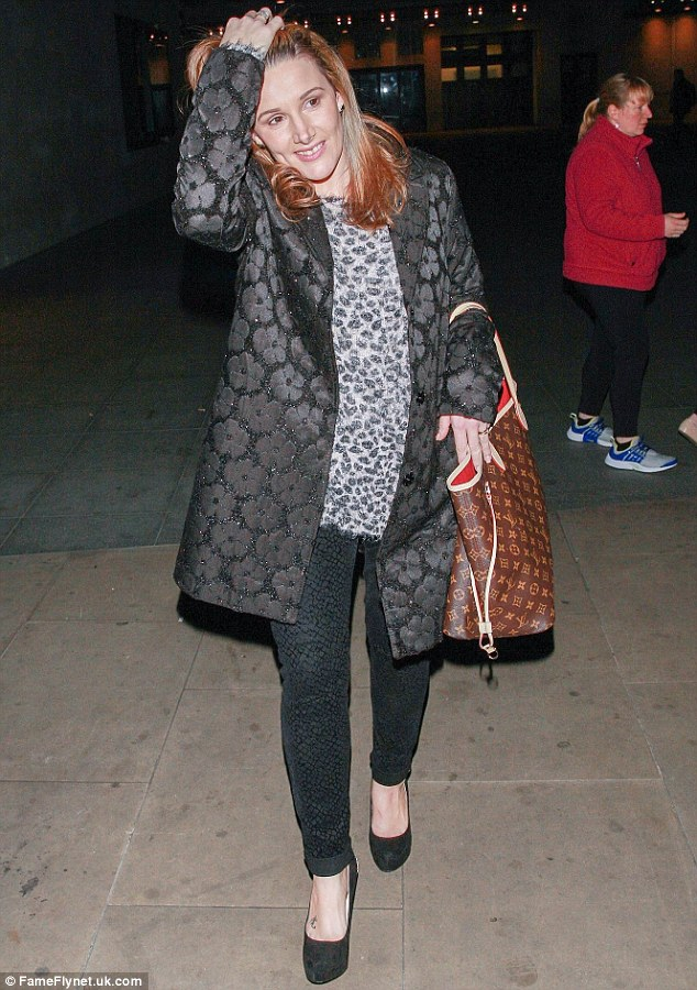 She has the Print Factor! Sam Bailey opted for three separate patterns as she left Radio 1 on Sunday evening